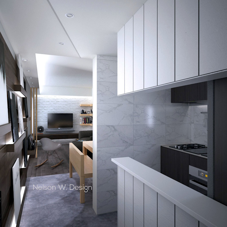 The Long Beach | Hong Kong:  Kitchen by Nelson W Design, Modern