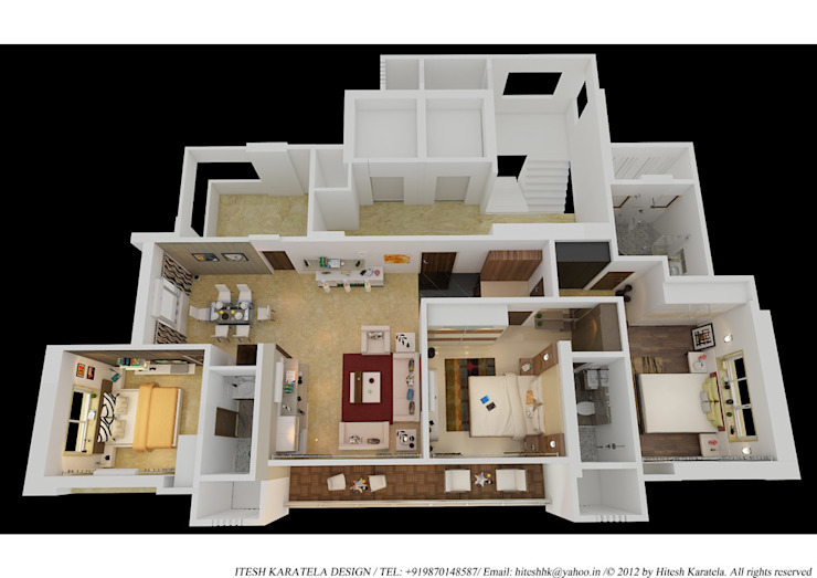 PIROZE PALACE SAMPLE FLAT: modern  by HK ARCHITECTS,Modern