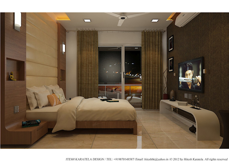 PIROZE PALACE SAMPLE FLAT HK ARCHITECTS Modern style bedroom