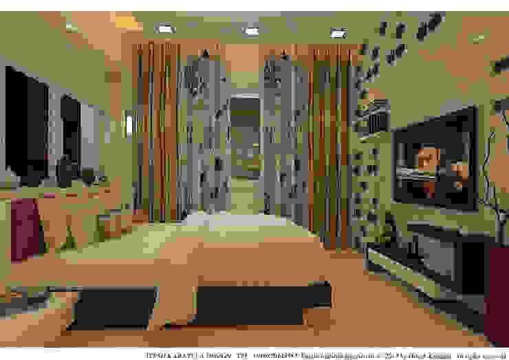PIROZE PALACE SAMPLE FLAT Modern style bedroom by HK ARCHITECTS Modern