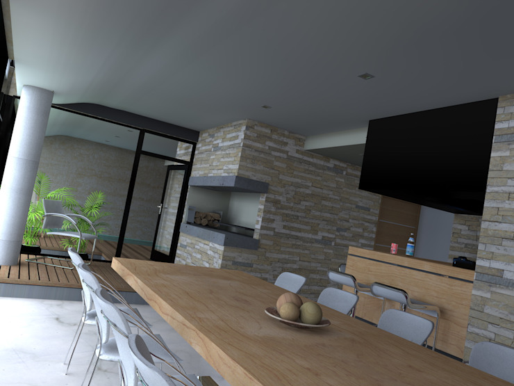 Edificio Errosion GGAL Estudio de Arquitectura ห้องครัว