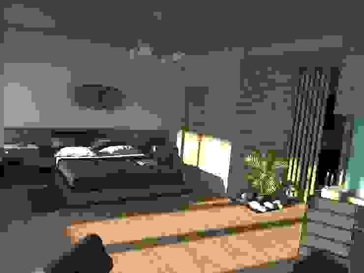 Edificio Errosion GGAL Estudio de Arquitectura ห้องนอน