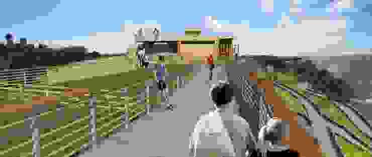 Proyecto de título, estudiante de arquitectura Balcones y terrazas modernos de 3DT Render Moderno