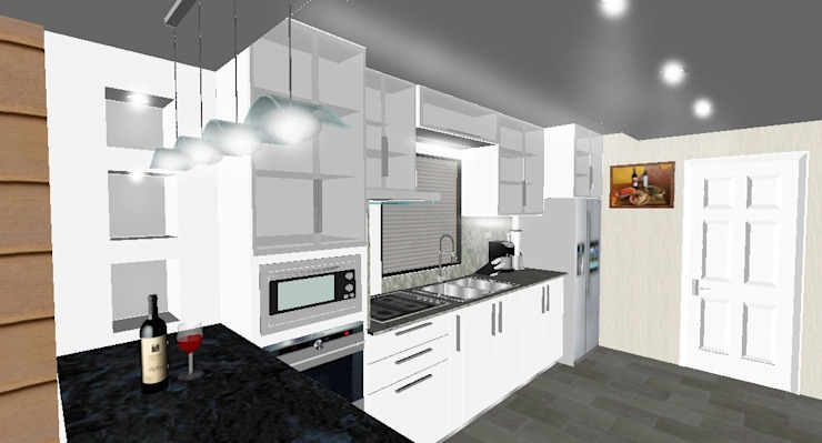 Diseño de Cocina y Cielo Raso de JOHN DESIGNS