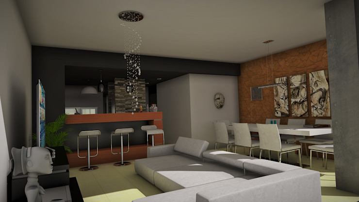 Edificio The Block GGAL Estudio de Arquitectura Living room