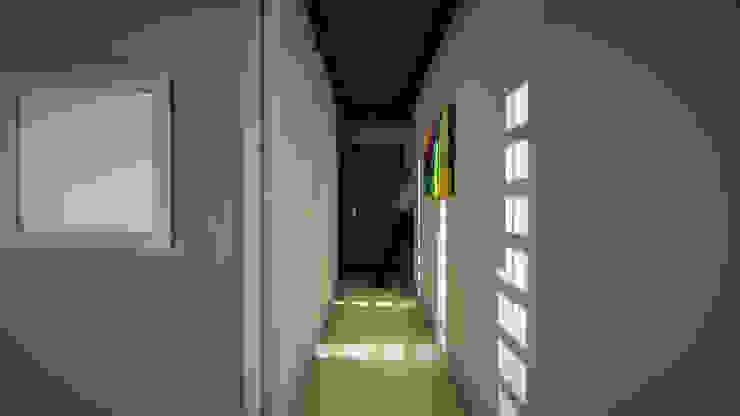Edificio The Block GGAL Estudio de Arquitectura Modern corridor, hallway & stairs