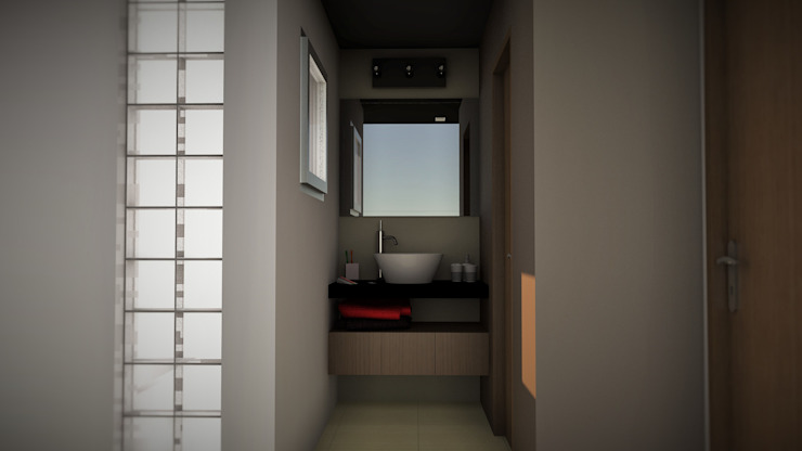Edificio The Block GGAL Estudio de Arquitectura Modern style bathrooms