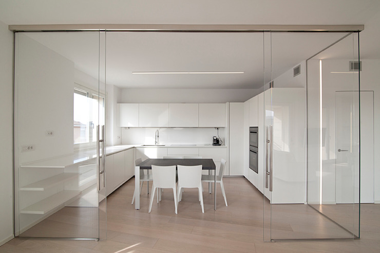RWA_Architetti Cozinhas minimalistas Branco