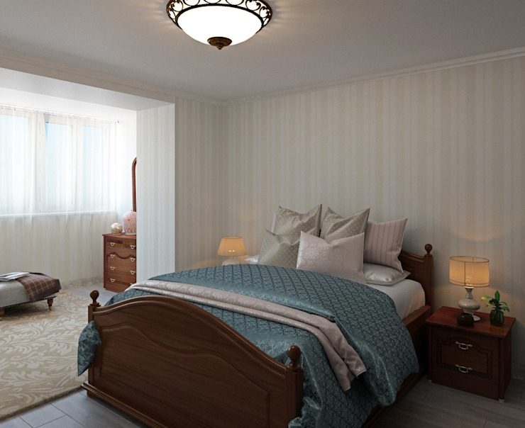 ДизайнМастер Classic style bedroom Wood Beige