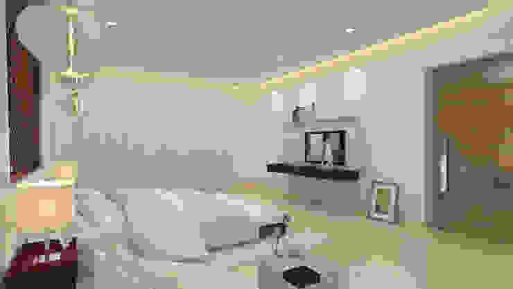 غرفة نوم تنفيذ De Panache  - Interior Architects
