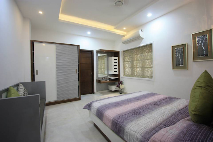 Guest Bedroom Modern style bedroom by Ansari Architects Modern