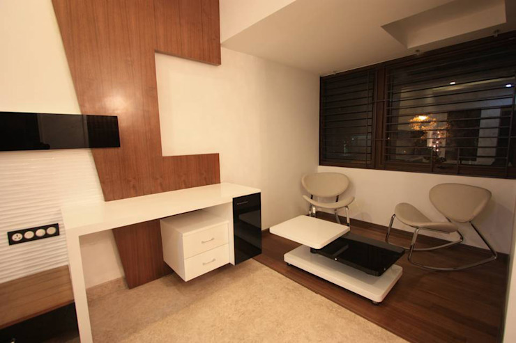 Sitting area Modern style bedroom by Ansari Architects Modern