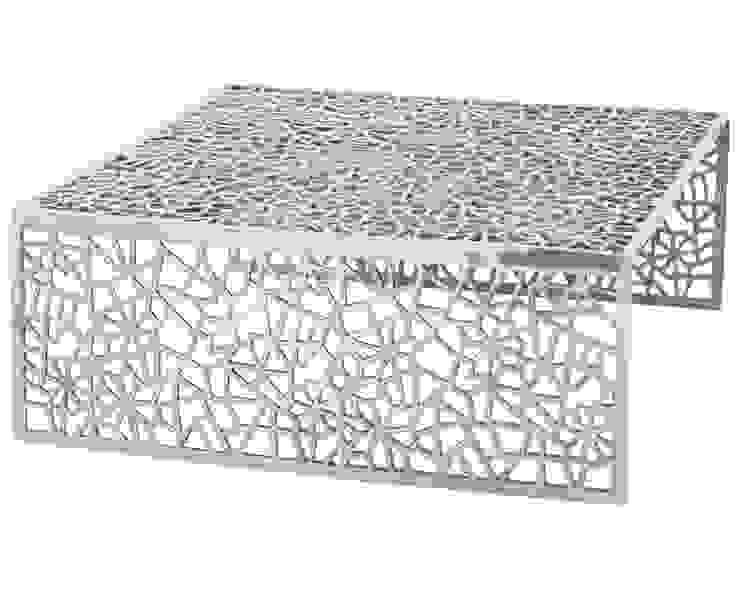 Table basse design en aluminium poli - Clive par homify Moderne