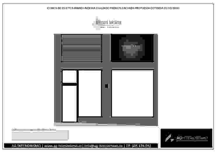 Fachada Clínicas de estilo minimalista de AG INTERIORISMO Minimalista Cerámico
