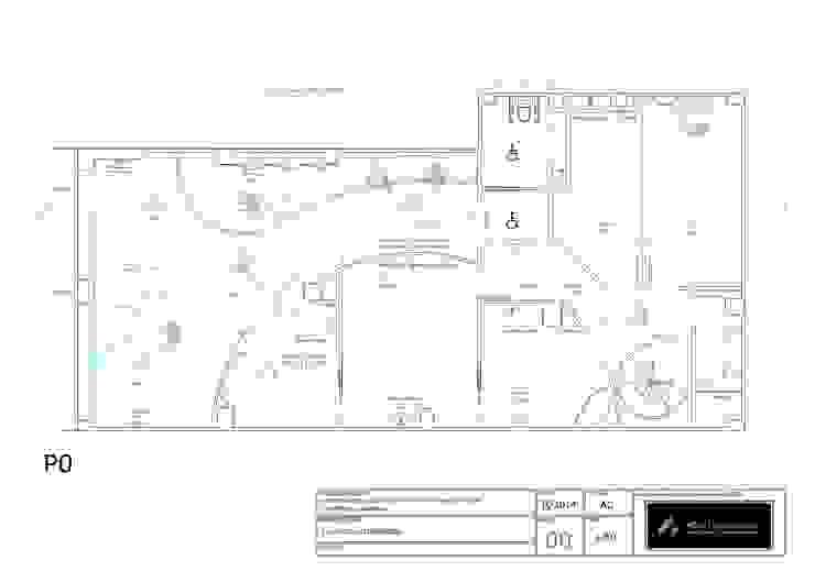 Plano de planta Clínicas de estilo minimalista de AG INTERIORISMO Minimalista Aglomerado