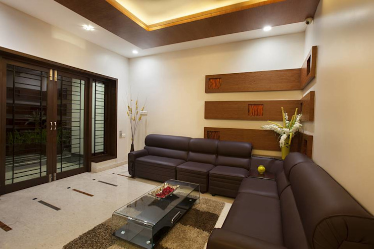 ​Family hall Modern living room by Ansari Architects Modern