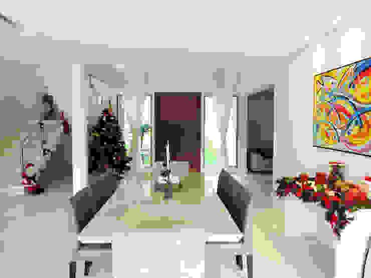 Casa Avenida do Lago Salas de jantar campestres por Alexandre Senra Arquitetos Associados Campestre