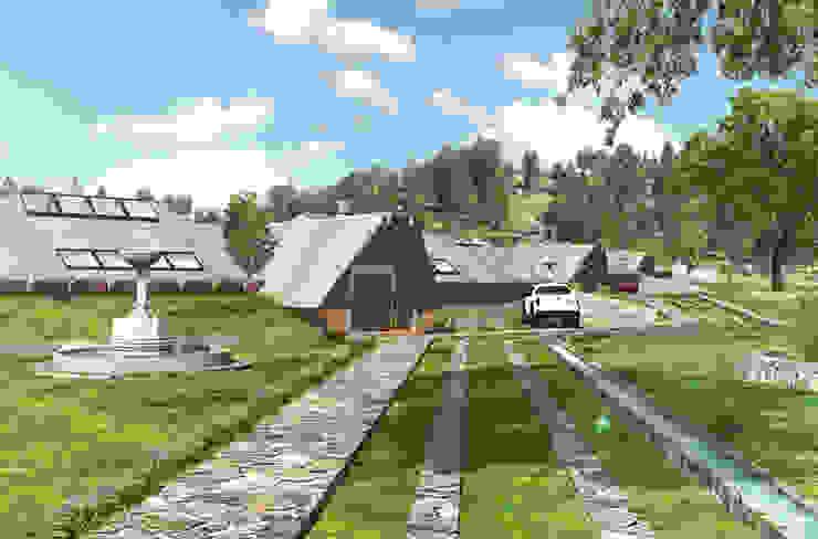 Vista de ingreso al complejo residencial Casas de estilo rural de ARMarquitectura Rural