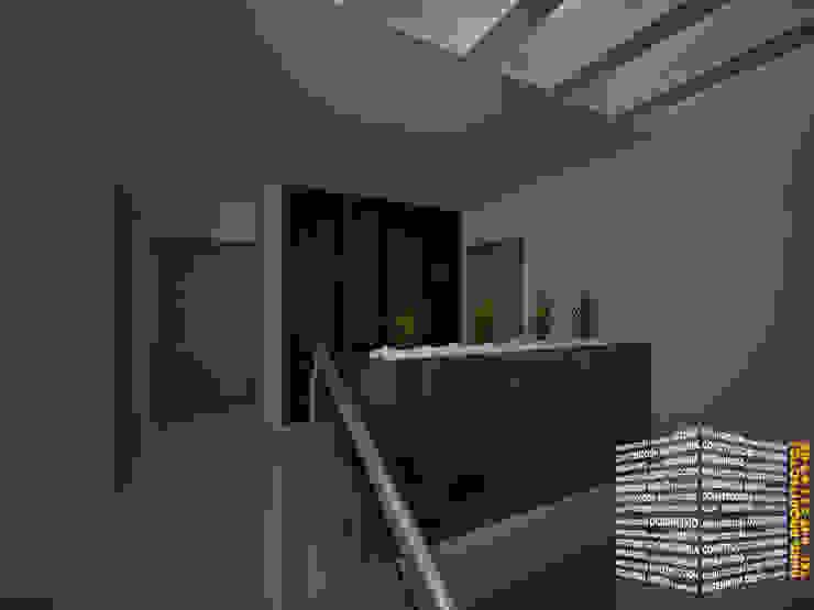 JARDINERA ESCALERA Pasillos, vestíbulos y escaleras modernos de HHRG ARQUITECTOS Moderno