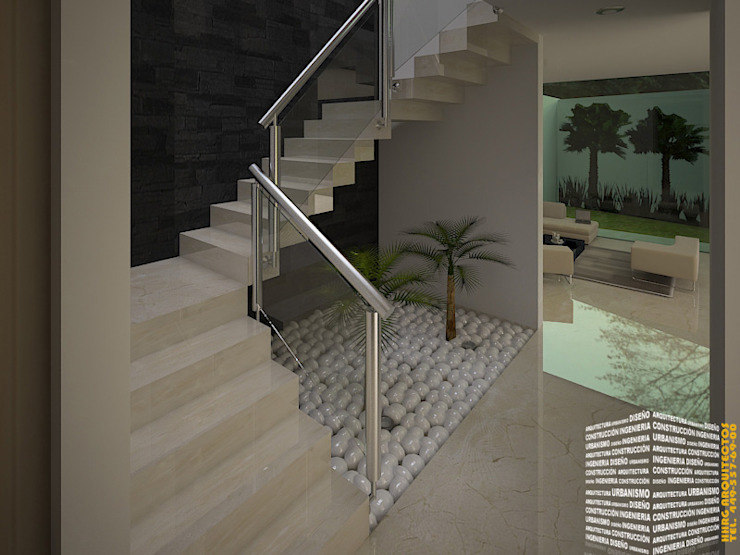 Modern Corridor, Hallway and Staircase by HHRG ARQUITECTOS Modern