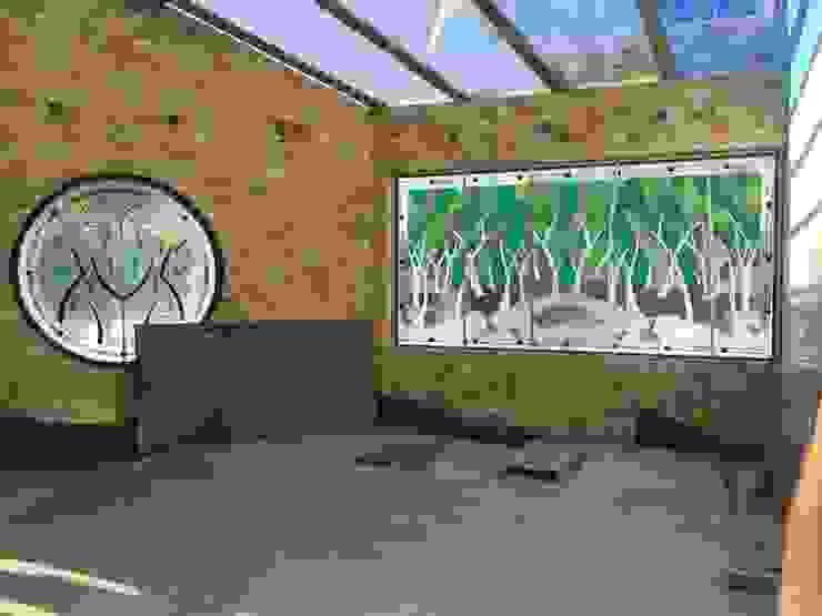 Vitrales Tiffany en Interior de Vitrales Emplomados Vidrio y Plomo