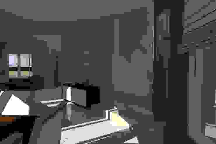 Vivienda Unifamiliar – Esquina al Río Pasillos, vestíbulos y escaleras modernos de NLA Arquitectura Moderno