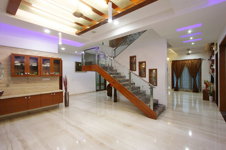 Staircase Modern corridor, hallway & stairs by Ansari Architects Modern