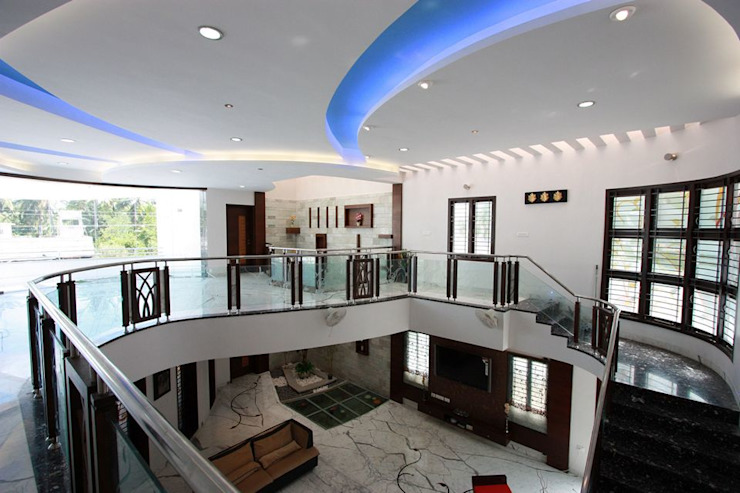 False Ceiling Modern living room by Ansari Architects Modern