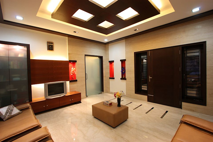 ​Drawing room Modern Living Room by Ansari Architects Modern