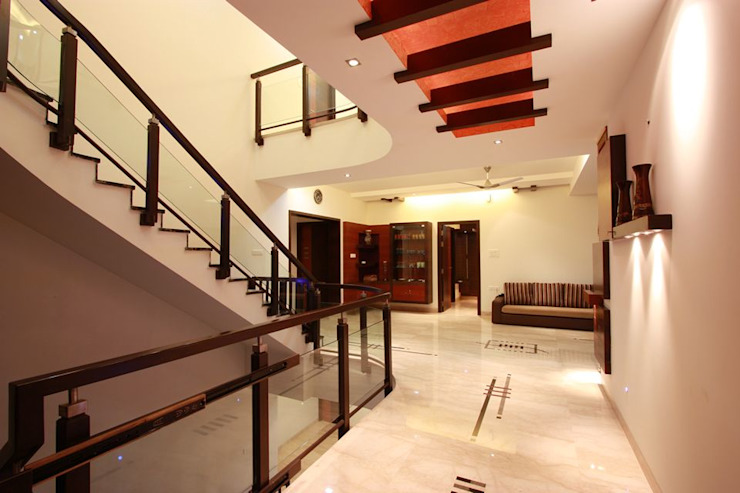 Passage Modern corridor, hallway & stairs by Ansari Architects Modern