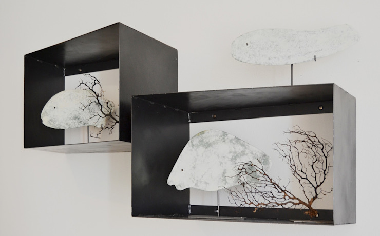 Elena Valenti Studio Design Living roomShelves Besi/Baja Black