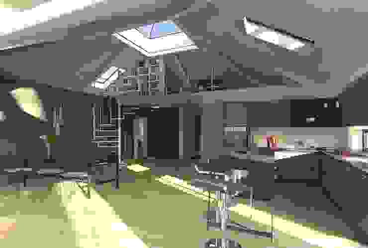 K-MÄLEON Haus GmbH Modern kitchen Grey