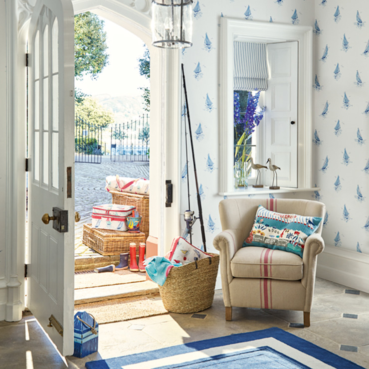 Laura Ashley Decoración Koridor & Tangga Gaya Mediteran Blue