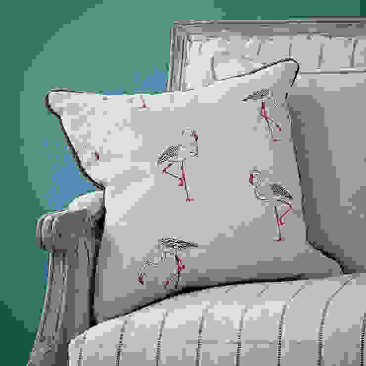 Linen Flamingo Cushion rigby & mac Living roomAccessories & decoration Grey
