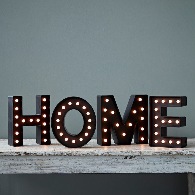 HOME Light Up letters rigby & mac Living roomLighting Black