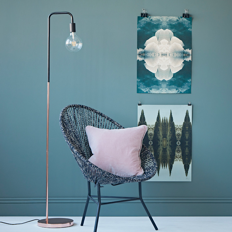 Copper Base Floor Lamp Oleh rigby & mac Eklektik Perunggu