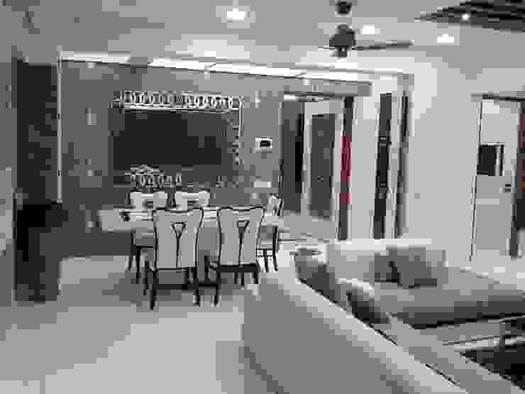 Mr Kamdar 19th Floor Modern living room by TRINITY DESIGN STUDIO Modern