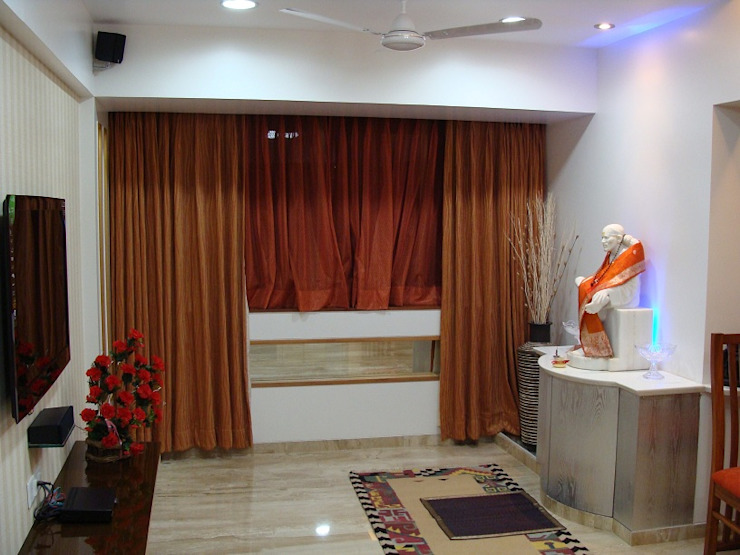 Residence Shivaji Park Modern corridor, hallway & stairs by TRINITY DESIGN STUDIO Modern