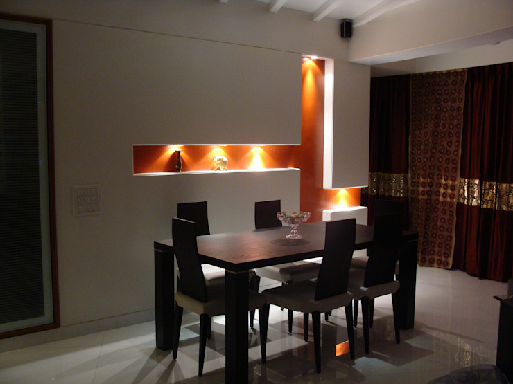 Shivaji Park Modern dining room by TRINITY DESIGN STUDIO Modern