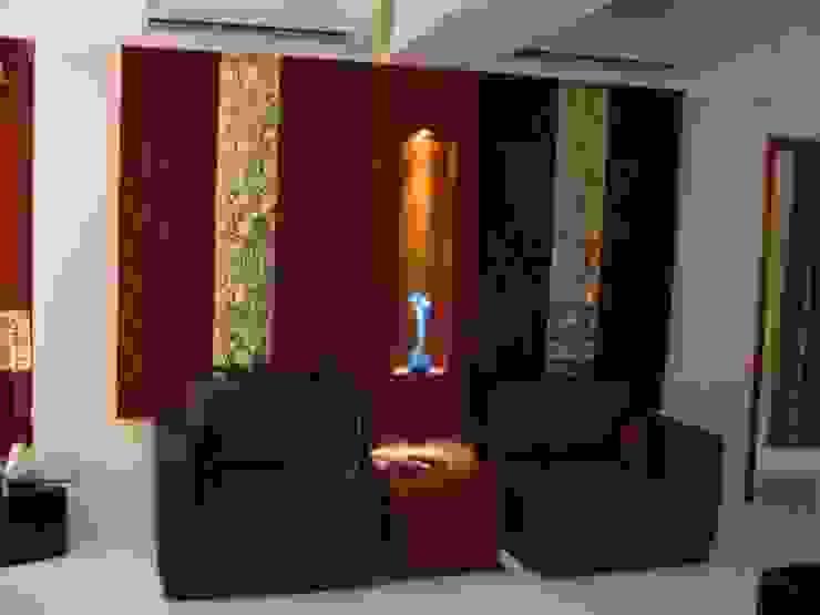 Shivaji Park Modern living room by TRINITY DESIGN STUDIO Modern