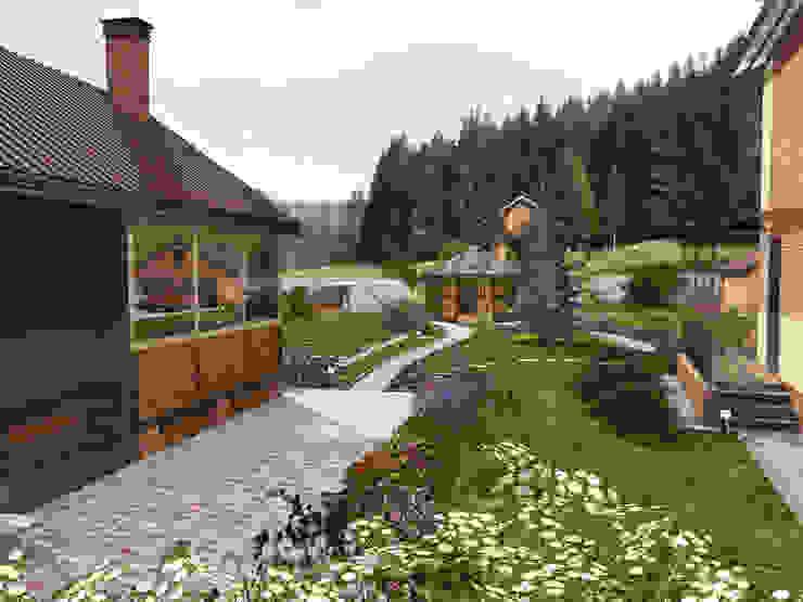 Projekty,  Ogród zaprojektowane przez Студия архитектуры и дизайна Вояджи Дарьи, Nowoczesny