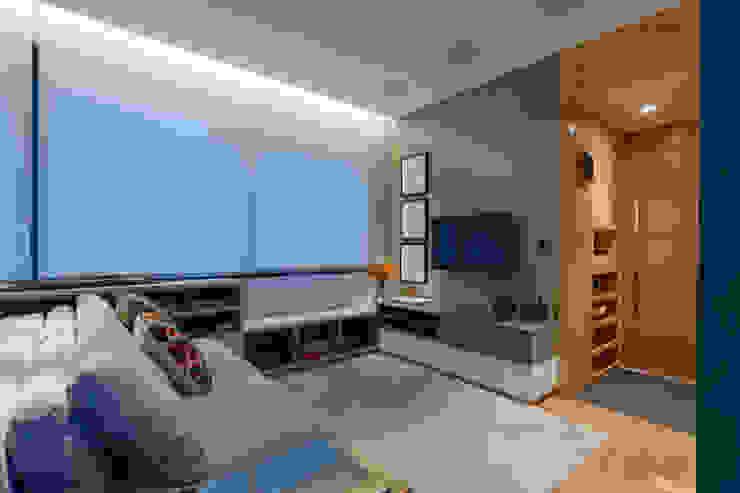 Modern Oturma Odası CoGa Arquitetura Modern