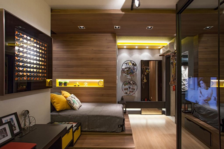 Modern style bedroom by Arquitetura Ao Cubo LTDA Modern