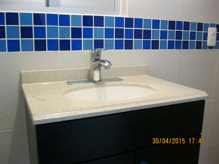 Fixing Eclectic style bathroom Tiles Blue
