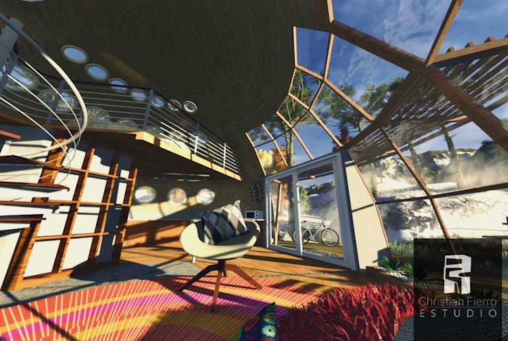 Estar: un acogedor interior Livings de estilo minimalista de homify Minimalista Contrachapado