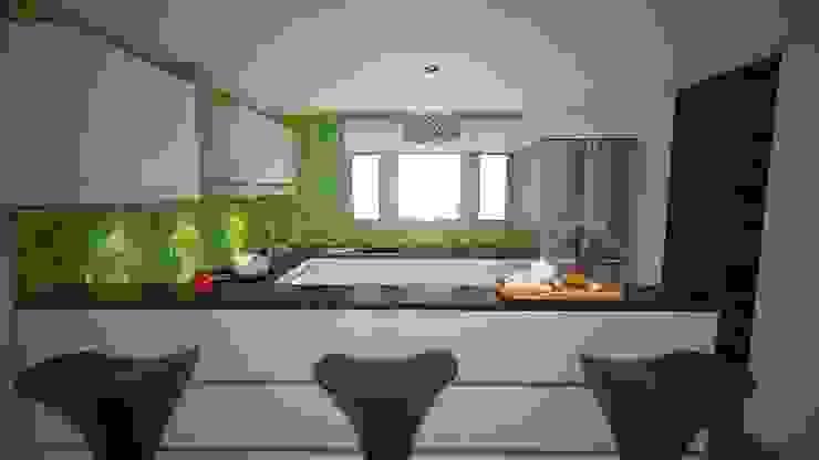 Las Terrazas de San Andres Cocinas modernas: Ideas, imágenes y decoración de Arquitectura y diseño 3d- J.C.G Moderno Cerámico