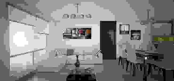 Las Terrazas de San Andres Casas modernas: Ideas, imágenes y decoración de Arquitectura y diseño 3d- J.C.G Moderno Cerámico