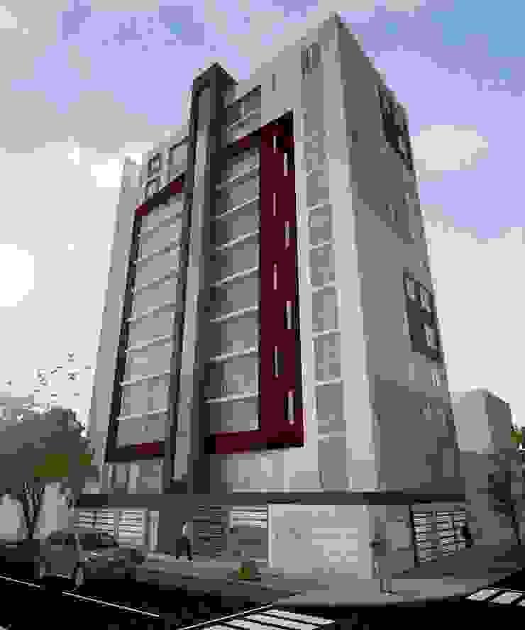 FACHADA Casas modernas: Ideas, imágenes y decoración de Arquitectura y diseño 3d- J.C.G Moderno Aglomerado