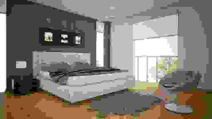 Las Terrazas de San Andres Dormitorios modernos: Ideas, imágenes y decoración de Arquitectura y diseño 3d- J.C.G Moderno Aglomerado