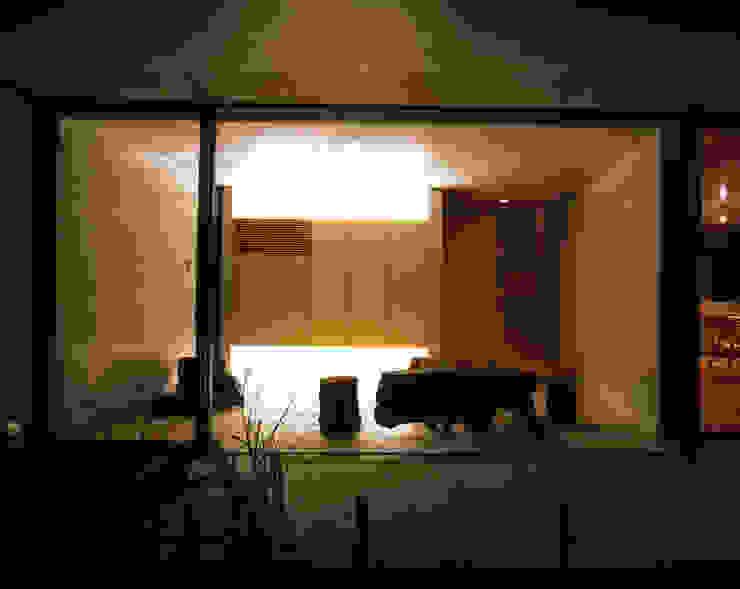 Pasillos, vestíbulos y escaleras de estilo moderno de SHSTT Moderno Vidrio